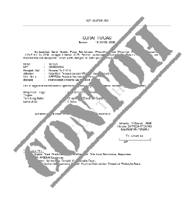Contoh Format Surat Wasiat 2013